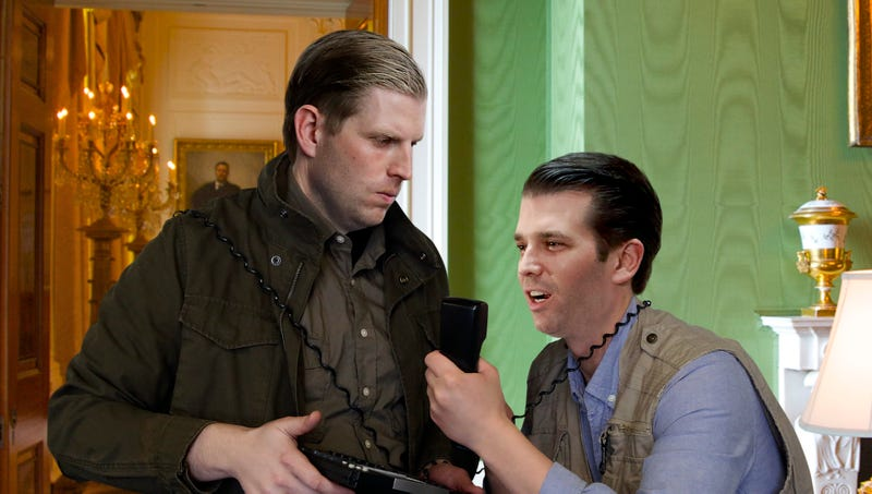 Illustration for article titled 'You Better Give Our Dad A Good Trade Deal Or You'll Be Sorry!' Shout Angry Trump Boys On Phone With Employee Of Local Chinese Restaurant