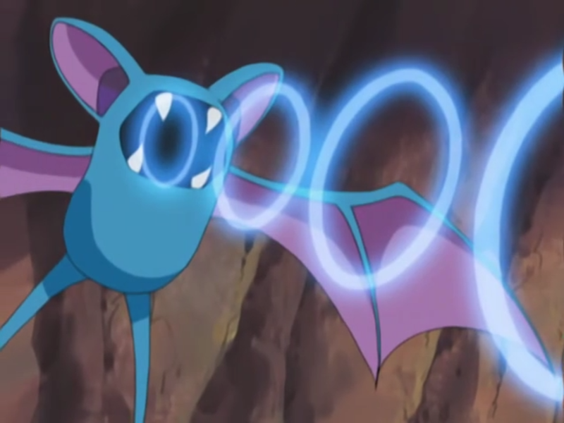 Foe Zubat used Supersonic.