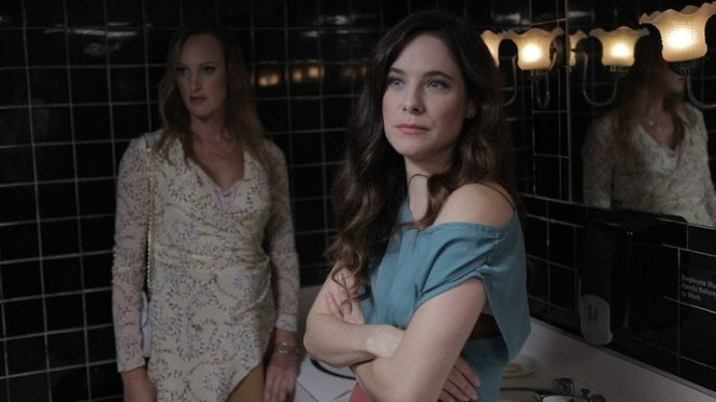 Caroline Dhavernas (right) in the upcoming film Easy Living
