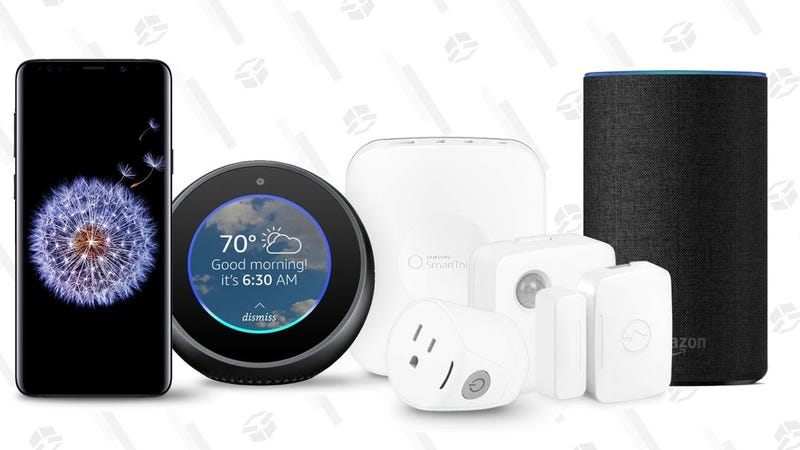 Samsung Galaxy S9 + Echo Spot + Echo + SmartThings Home Monitoring Hub   $720   AmazonSamsung Galaxy S9+ + Echo Spot + Echo + SmartThings Home Monitoring Hub   $840   Amazon