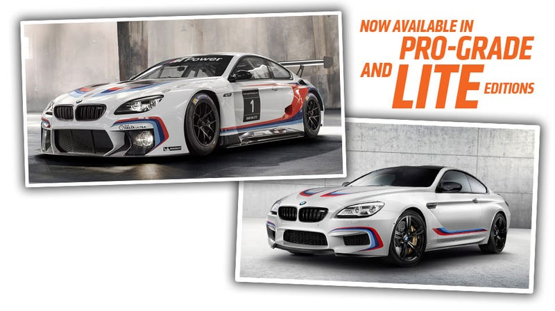 Illustration for article titled The BMW M6 GT3 And Competition Editions Get M Stripes, Lots Of M Stripes