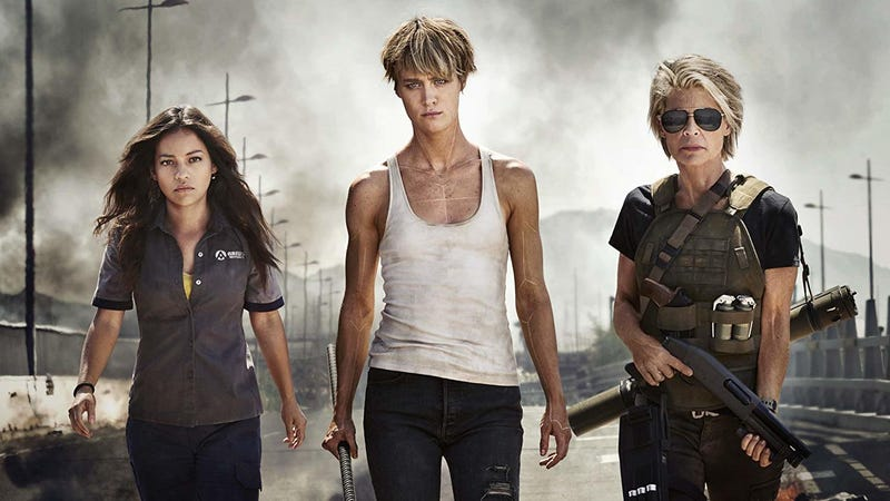 Terminator newcomers Natalia Reyes and Mackenzie Davis join Linda Hamilton in *checks notes* Terminator: Dark Fate.