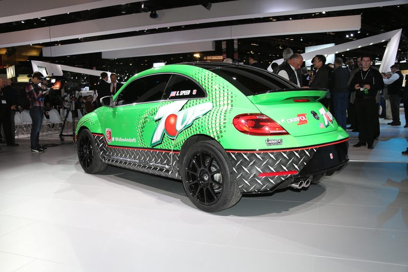 Illustration for article titled The 7up Rallycross Volkswagen Beetle Is Even Better