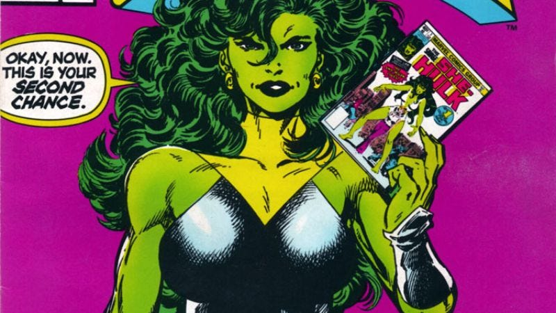 "Illustration for article titled Stan Lee responds to David S. Goyer's ""She-Hulk is a sex fantasy"" theory"