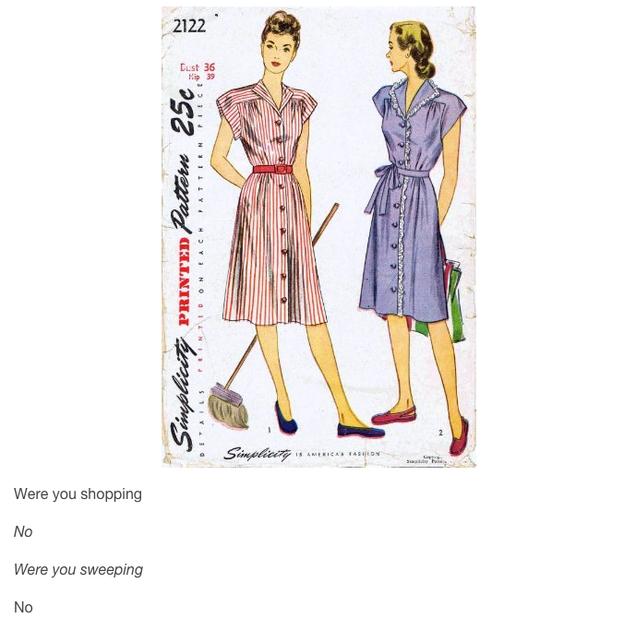 Vintage Nähmuster mit lustigen Untertiteln machen Sie knacken