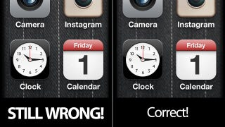 Illustration for article titled November 1st and iOS 5 Hasn't Fixed the F*cking 1 On the iPhone's Calendar