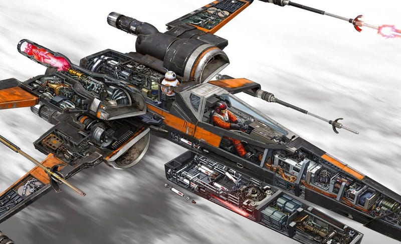 Illustration for article titled These Cross Sections of Spaceships and Vehicles from Star Wars Are Simply Incredible