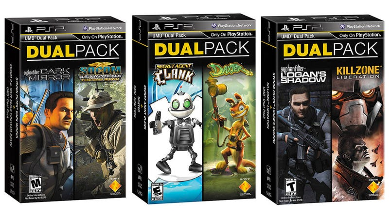 Illustration for article titled Playstation Portable Dual Packs Brings $15 Two-Game Bundles To Stores