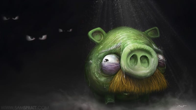 Illustration for article titled Angry Birds Make For Sad Pigs
