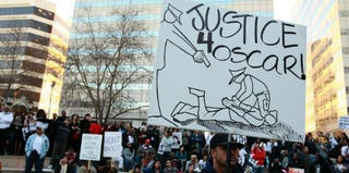 A 2009 California demonstration to protest the shooting of Oscar Grant (Justin Sullivan/Getty Images)