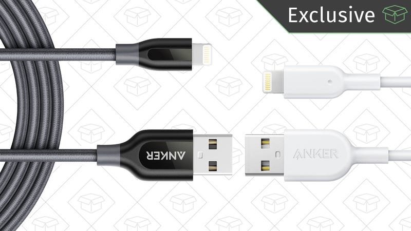 Anker PowerLine+ Lightning Cable | $13 | AmazonAnker PowerLine II Lightning Cable | $10 | Amazon | Promo code KINJA843Anker PowerLine+ USB-C to USB 2.0 Cable 2-Pack | $10 | Amazon | Promo code CMCM5555