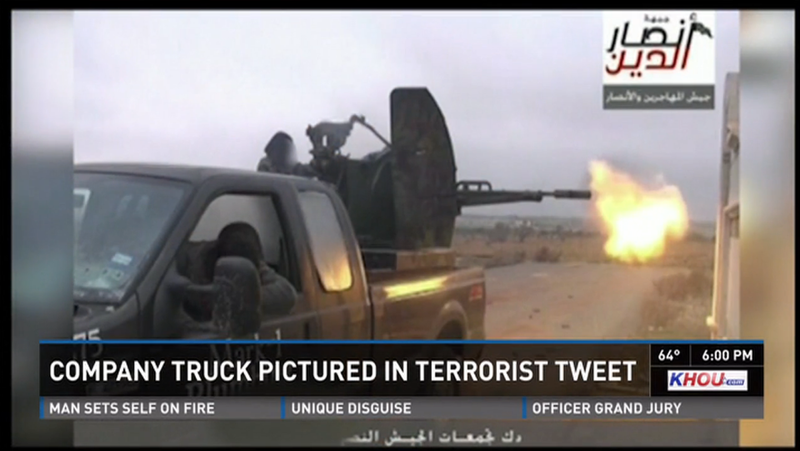Illustration for article titled Texas Plumber's Old Work Truck Ends Up With Islamic Terrorists In Syria