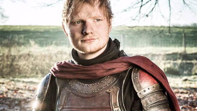 Illustration for article titled Rejoice, for Ed Sheeran's Game Of Thrones character was apparently maimed by dragons
