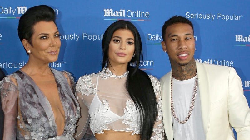 Illustration for article titled Kris Jenner Is Thrilled with Tyga and Kylie's 'Stimulated' Relationship