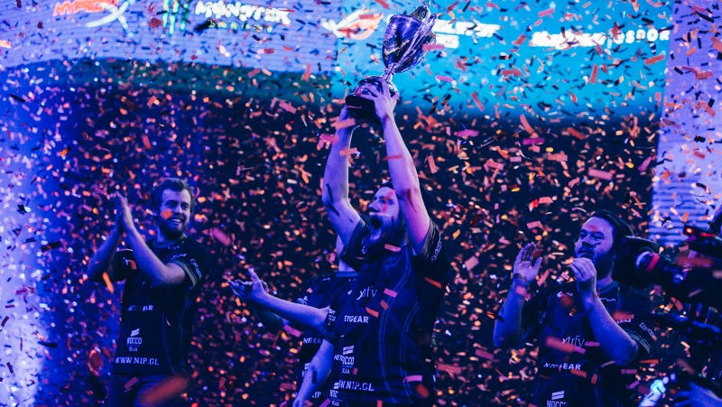 Ninjas in Pyjamas after an emotional victory over Na'Vi at DreamHack, by Abraham Engelmark for DreamHack. Source