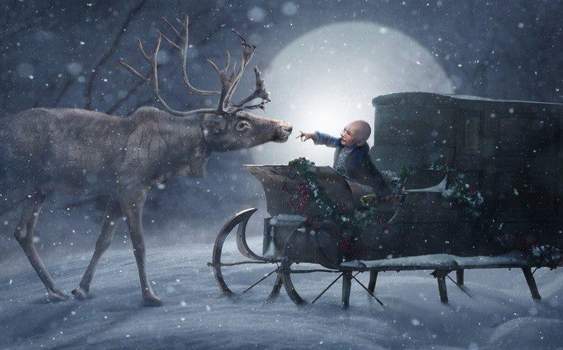 Illustration for article titled Fotógrafos voluntarios visitan a cientos de niños enfermos y convierten sus retratos en escenas mágicas de Navidad