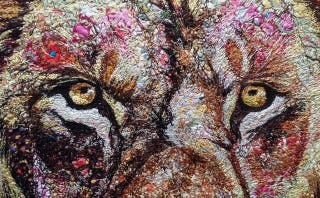 Illustration for article titled Animals Made From Unbelievably Intricate Fabric Collages