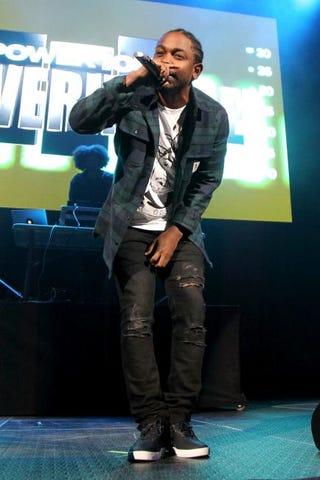 Kendrick Lamar performs onstage in Brooklyn, N.Y., Oct. 22, 2015.Bennett Raglin/Getty Images for Power 105.1's Powerhouse 2015