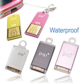 Illustration for article titled PQI's Intelligent Stick Flash Drives are Tiny, Waterproof, Dust-Proof