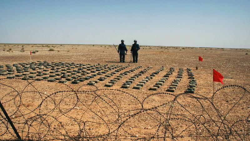 A Libyan minefield. Photo: AP
