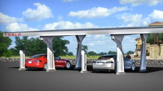 Illustration for article titled Tesla's Supercharger Offers Free Superfast Solar Charging