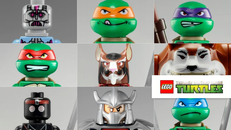Illustration for article titled Lego Teenage Mutant Ninja Turtles Official Collection, People!