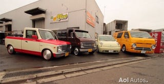 Illustration for article titled Tiny vintage trucks spotted in Japan!