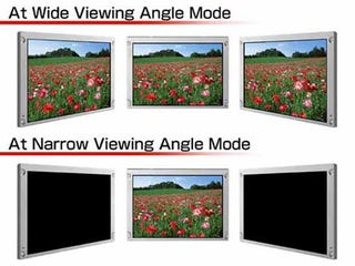 Illustration for article titled New LCD Display From NEC Can Switch Between Wide and Narrow Viewing Angles