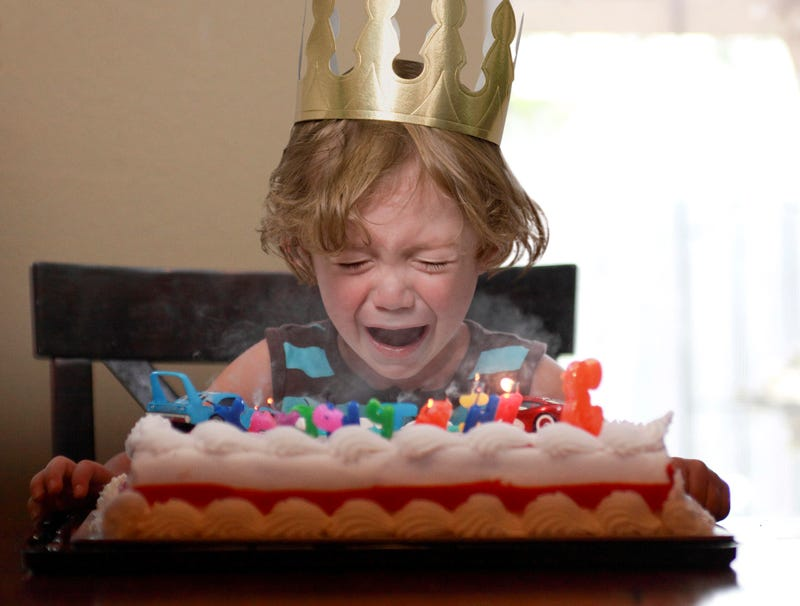 Illustration for article titled Trick Candles Just Making Birthday Boy Cry Harder