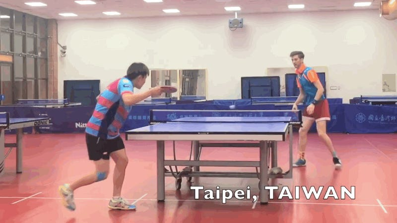 This Table-Tennis Trick Shot Bends Minds And Makes Opponents Look Silly