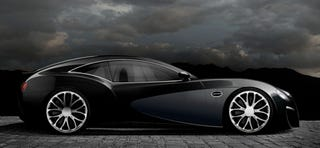 Illustration for article titled Ever Wondered What A Bugatti 2+2 Would Look Like? Neither Have We