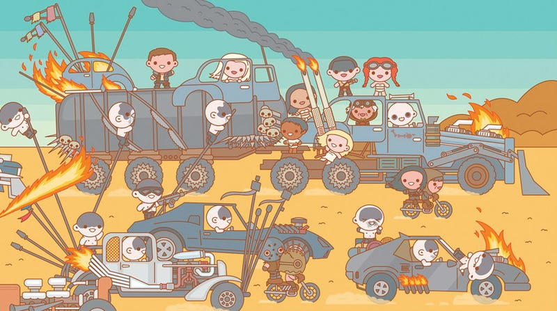 Illustration for article titled Mad Max, Harry Potter, Walking Dead, and More Are Adorably Badass in This Amazing Art