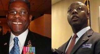 Republicans Allen West of Florida and Tim Scott of South Carolina
