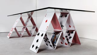 Illustration for article titled I Wish I Had This Surreal House of Cards Table