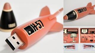 Illustration for article titled H-57's IBDM USB Missile Explodes with Retro Design