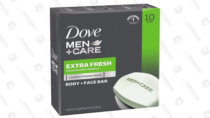 20-Pack Dove Men+Care Face and Body Bar Soap | $14 | Amazon