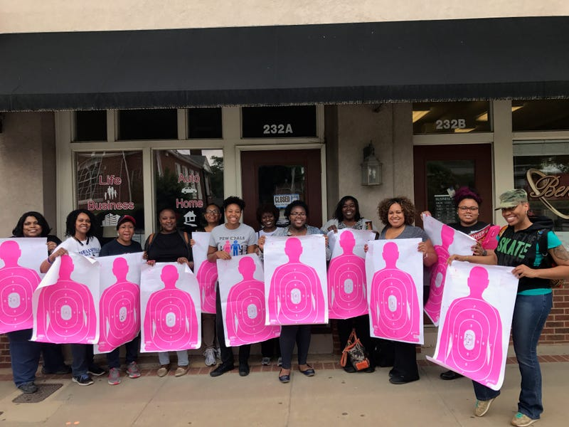 Marchelle Tigner (6th from left) offers women-only gun courses in hopes of helping women be better able to defend themselves and others. (Courtesy of Marchelle Tigner)