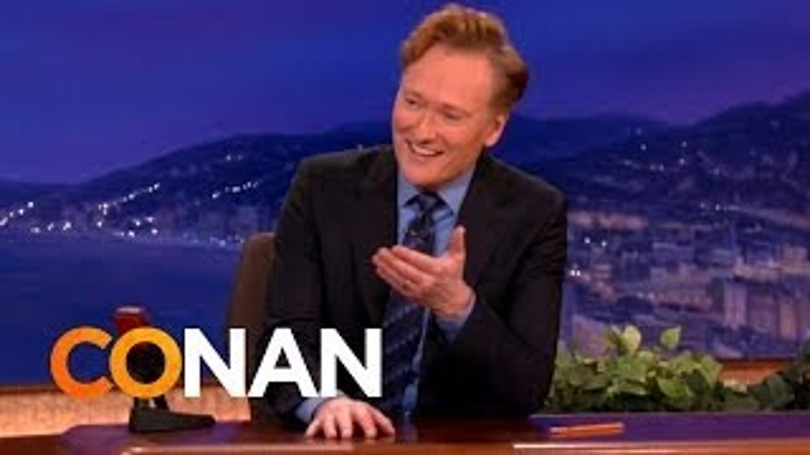 Watch Conan Solve His Own Show's Technical Difficulties