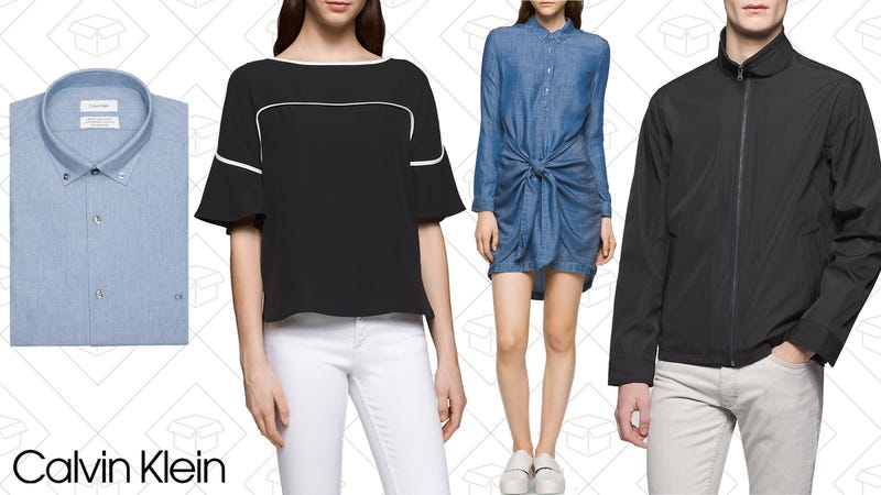 calvin klein is seriously marking down a ton of stock