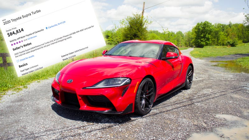 Illustration for article titled Here Come the Big Dealer Markups on the 2020 Toyota Supra