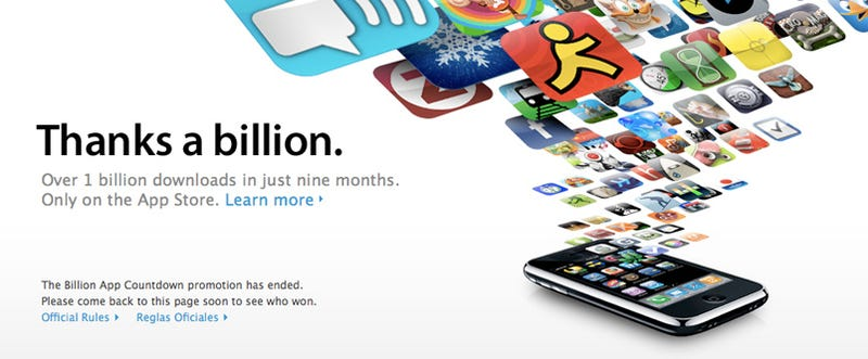 Illustration for article titled Apple Hits One Billion Apps