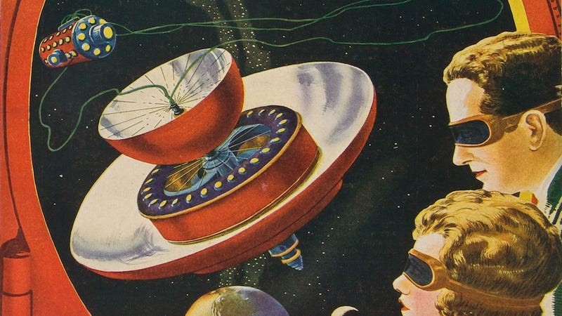 Illustration for article titled Astounding Spaceship Designs From Before The Space Age