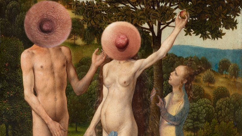 Hugo Van Der Goes: The Fall Of Man And The Lamentation And Nipples