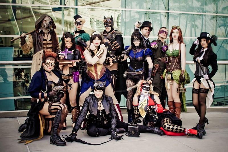 Illustration for article titled Batman and his Sexy, Steampunk and Occasionally Gender-Swapped DC Bat-Family