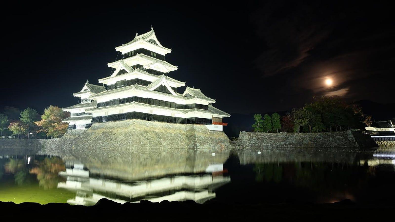 Image result for matsumoto castle night