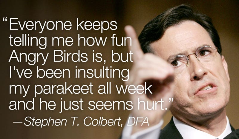 Illustration for article titled Colbert, You're Doing It Wrong