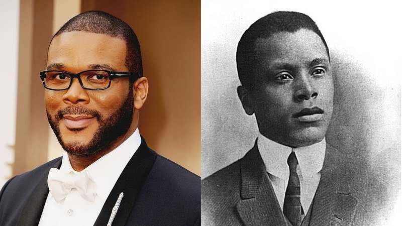 Tyler Perry (Photo: Steve Granitz / WireImage/ Getty Images) and a young Oscar Micheaux (Photo: Wikimedia)