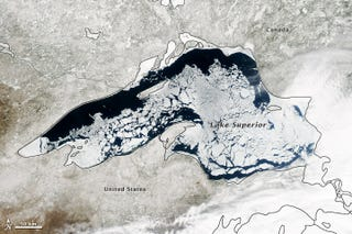 Illustration for article titled Lake Superior Is Basically In The Middle Of A Never-Ending Winter
