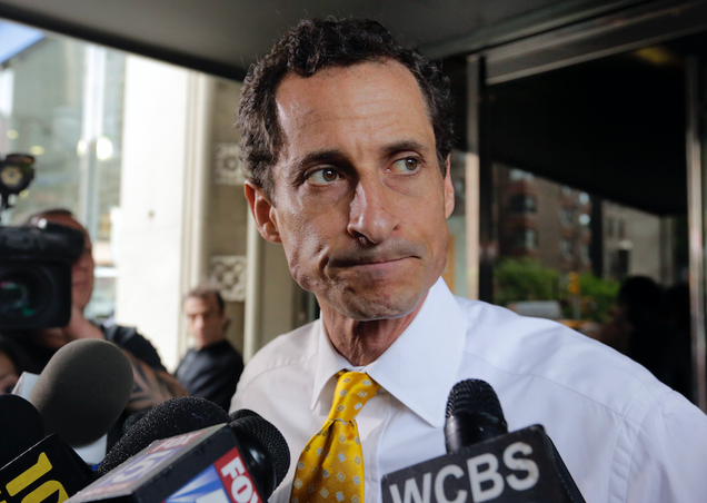 Sad, Sick Idiot Anthony Weiner to Plead Guilty to Sexting 15-Year-Old Girl