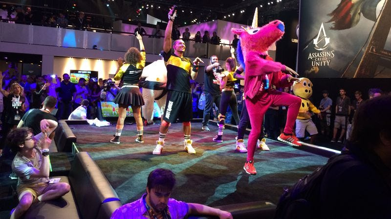 Illustration for article titled We clean out our E3 notebook with turkey legs and dancing unicorns